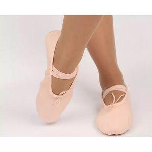 Girls Soft Split-Sole Ballet Dance Slipper…